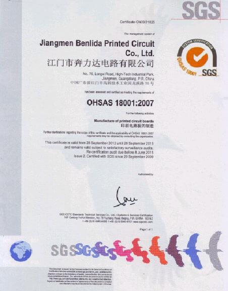 OHSAS1001 2007